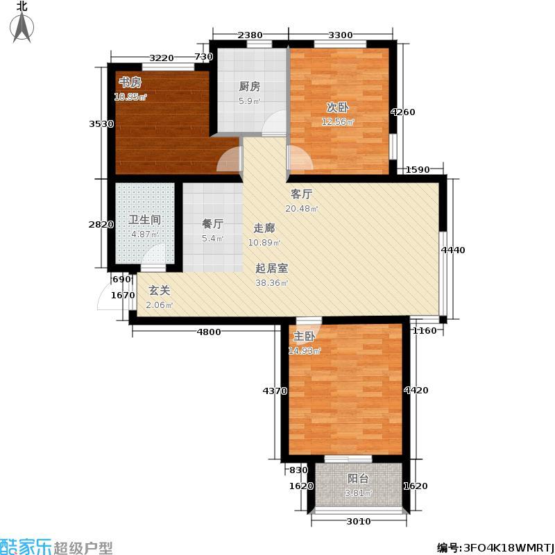 华普城1617号楼标准层F户型