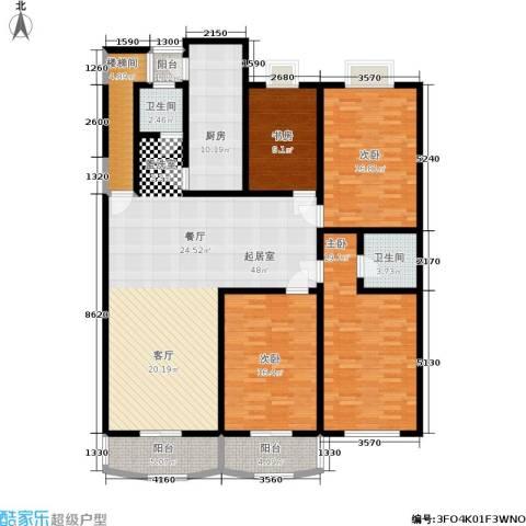 长江花园4室0厅2卫1厨160.00㎡户型图