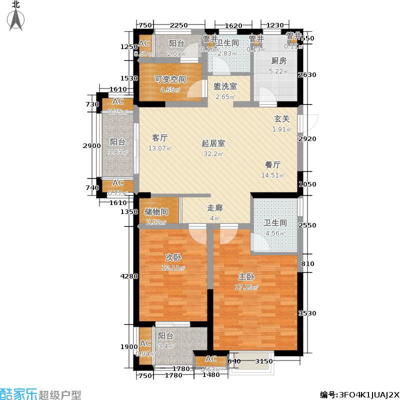 世茂西西湖熙园110.00㎡B1-优活馆户型3室2厅
