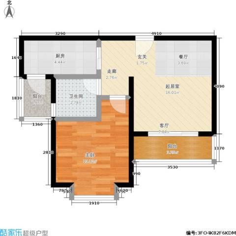 天诚康桥1室0厅1卫1厨56.00㎡户型图