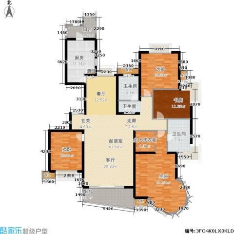 淡水湾花园4室0厅2卫1厨197.00㎡户型图