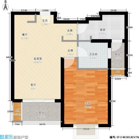 绿地蔷薇九里1室0厅1卫1厨65.00㎡户型图