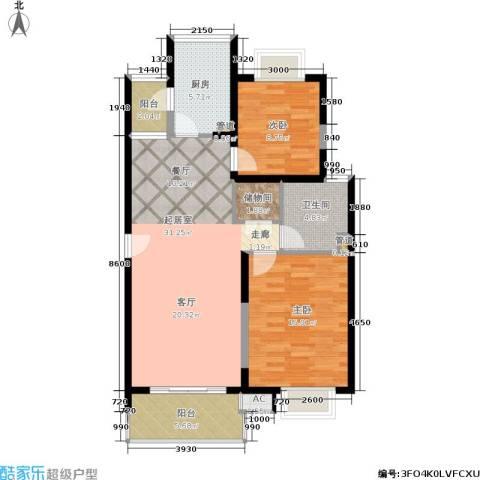 九歌上郡2室0厅1卫1厨108.00㎡户型图