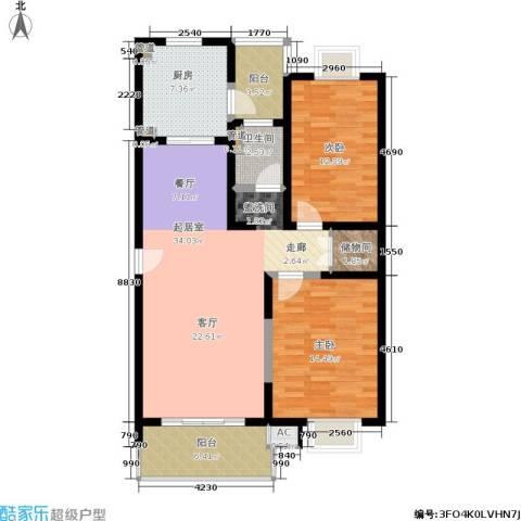 九歌上郡2室0厅1卫1厨120.00㎡户型图