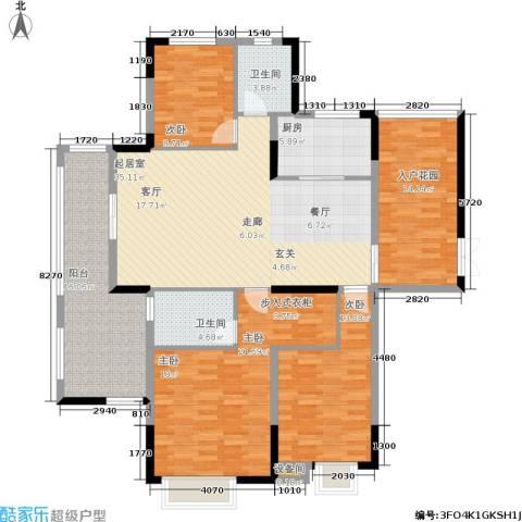 长城世家3室0厅2卫1厨138.00㎡户型图