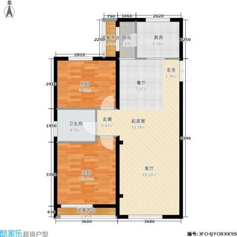 太阳城丹荔园2室0厅1卫1厨96.00㎡户型图