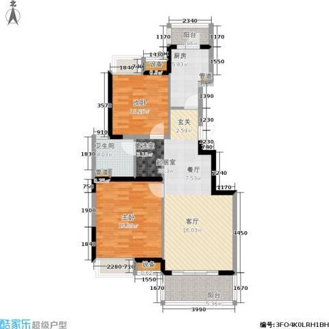 江桥万达广场2室0厅1卫1厨85.21㎡户型图