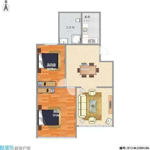 民东公寓2室1厅1卫1厨90.00㎡户型图