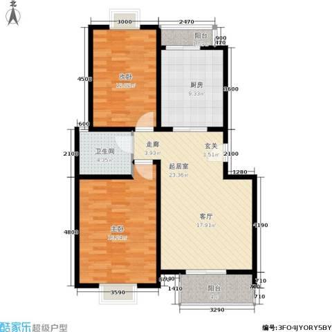 太阳城丹荔园2室0厅1卫1厨100.00㎡户型图