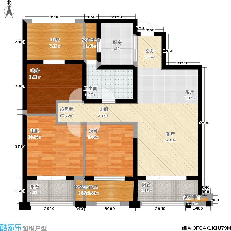 新湖果岭88.00㎡A精致户型3室2厅