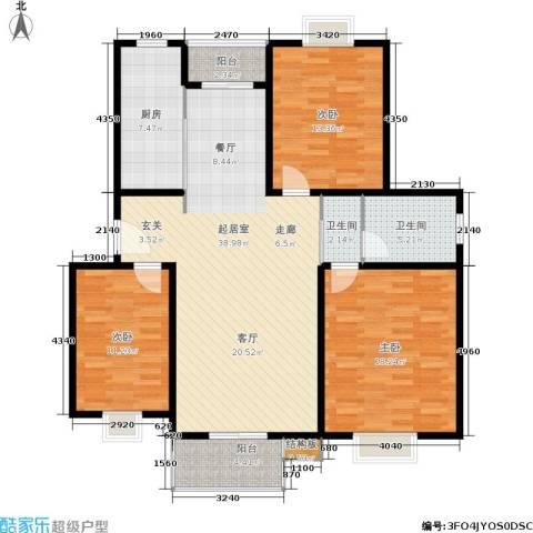 太阳城丹荔园3室0厅2卫1厨139.00㎡户型图