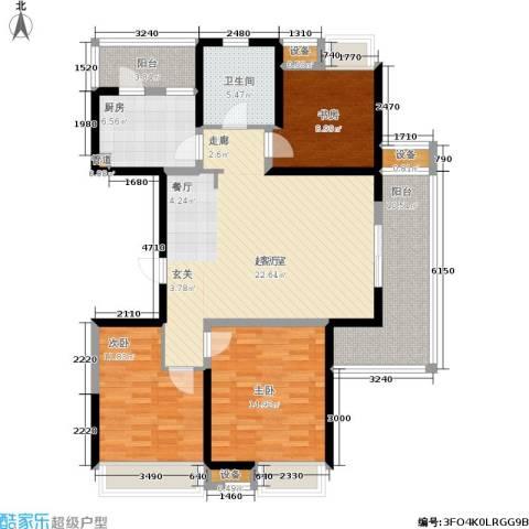 江桥万达广场3室0厅1卫1厨112.75㎡户型图