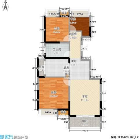 江桥万达广场3室0厅1卫1厨89.24㎡户型图