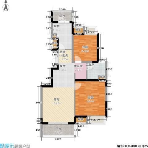 江桥万达广场2室0厅1卫1厨87.16㎡户型图