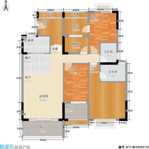 广物锦绣东方3室0厅2卫1厨121.72㎡户型图