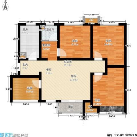 月珑湾3室0厅1卫1厨99.00㎡户型图