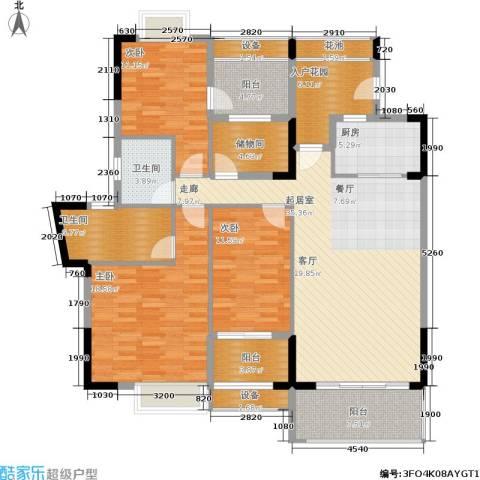 广物锦绣东方3室0厅2卫1厨124.32㎡户型图