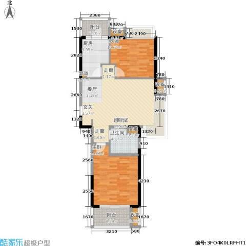 江桥万达广场2室0厅1卫1厨82.31㎡户型图