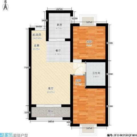 德荣·帝景2室0厅1卫1厨83.00㎡户型图