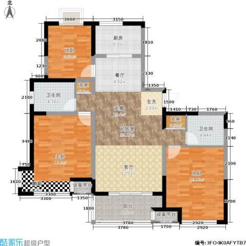 环龙新纪园3室0厅2卫1厨148.00㎡户型图