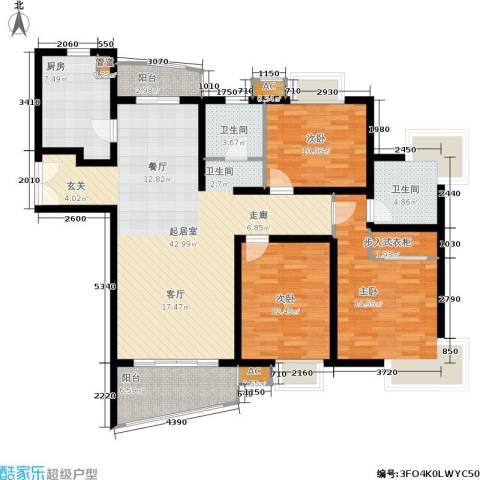 淡水湾花园3室0厅2卫1厨157.00㎡户型图