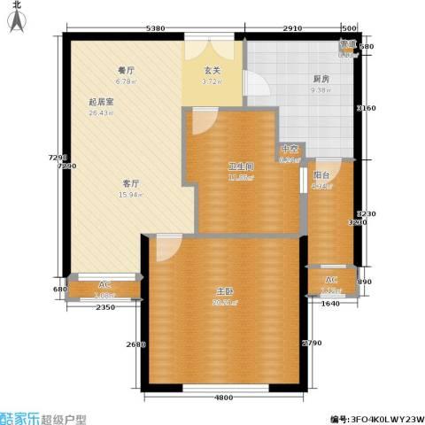淡水湾花园1室0厅1卫1厨103.00㎡户型图