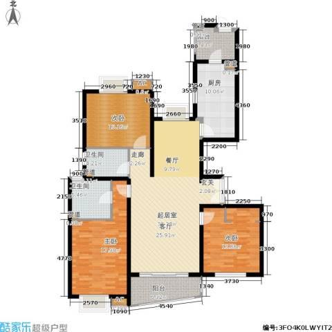 淡水湾花园3室0厅2卫1厨165.00㎡户型图