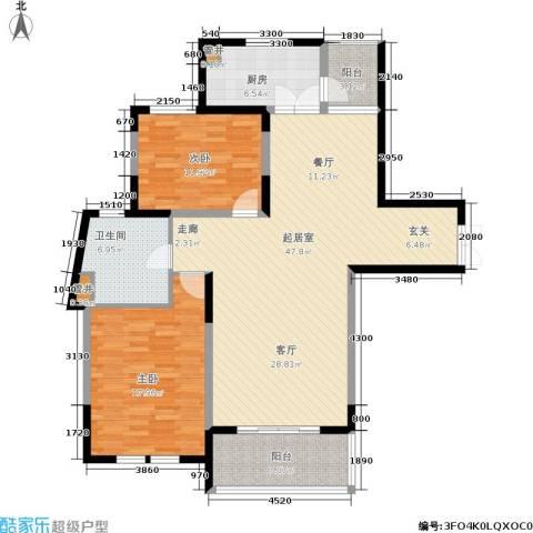 当代清水园2室0厅1卫1厨116.00㎡户型图