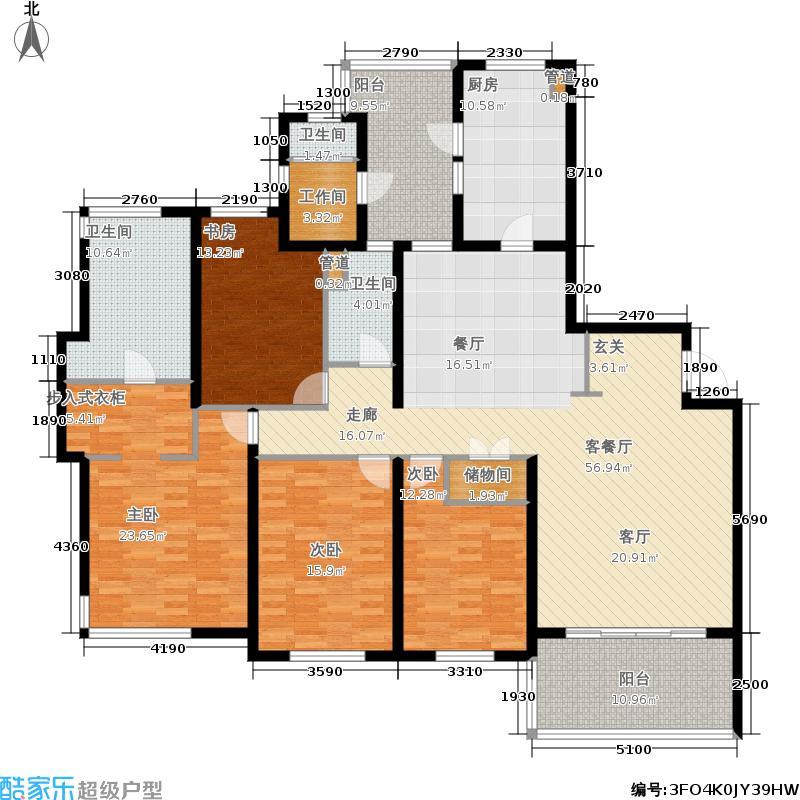 仁恒河滨城227.21㎡面积22721m户型