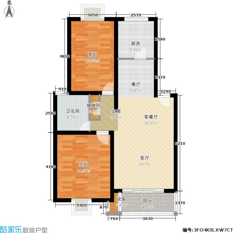 绿地南桥新苑85.00㎡上海A型面积8500m户型