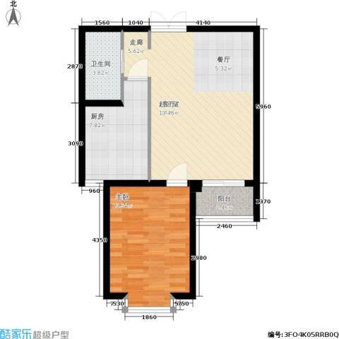 德荣·帝景1室0厅1卫1厨59.00㎡户型图