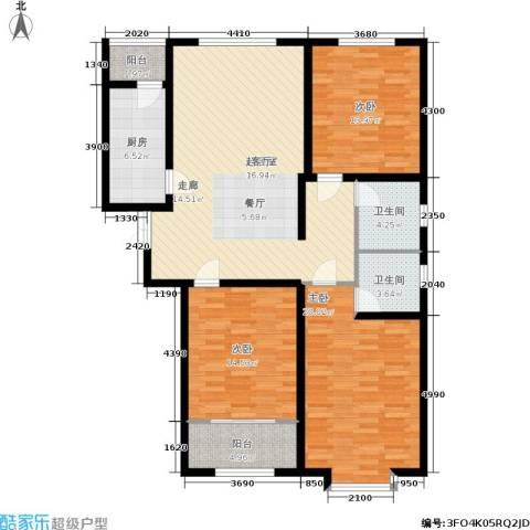 德荣·帝景3室0厅2卫1厨121.00㎡户型图