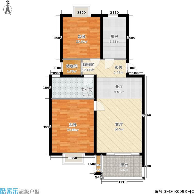 三金福邸85.73㎡D面积8573m户型