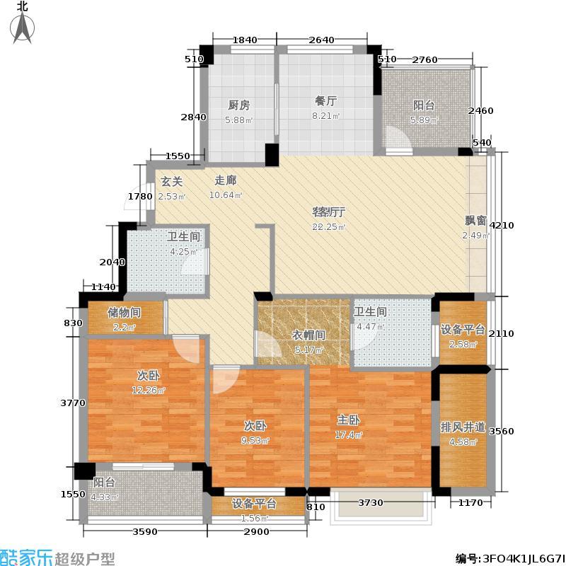 联合畔上居140.00㎡E户型3室2厅