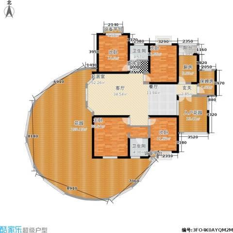 富湾国际4室0厅2卫1厨256.53㎡户型图