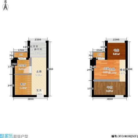 基星阁1室0厅1卫0厨53.00㎡户型图