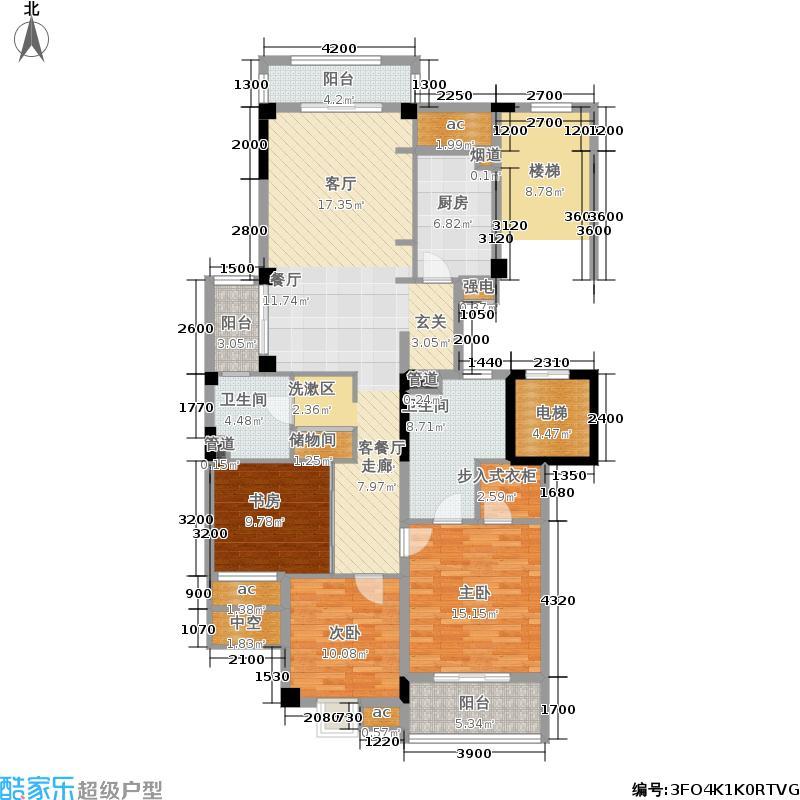 坤和和家园140.00㎡懿园(偶数层)-C户型3室2厅