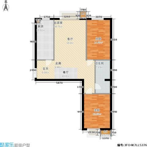 华联孔雀城2室0厅1卫1厨118.00㎡户型图