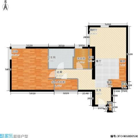 新地国际公寓1室1厅1卫0厨113.00㎡户型图