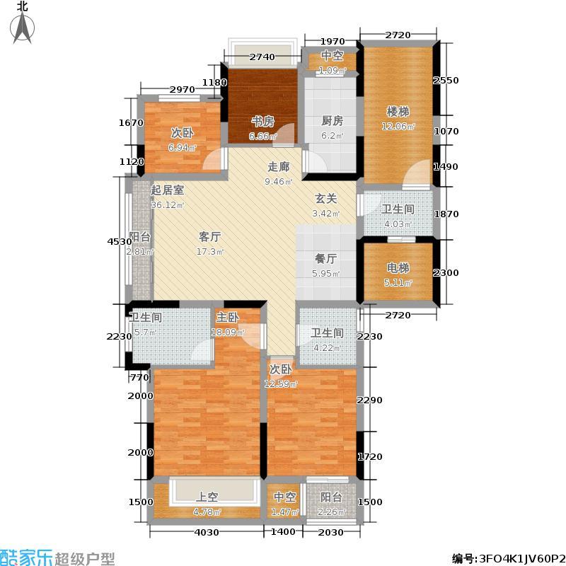 宝嘉誉峰126.00㎡A户型4室2厅