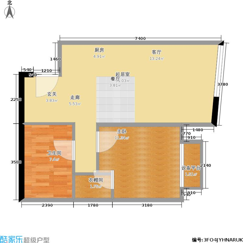 天津大悦城悦府Ⅱ期77.09㎡3号楼6-25层13户型