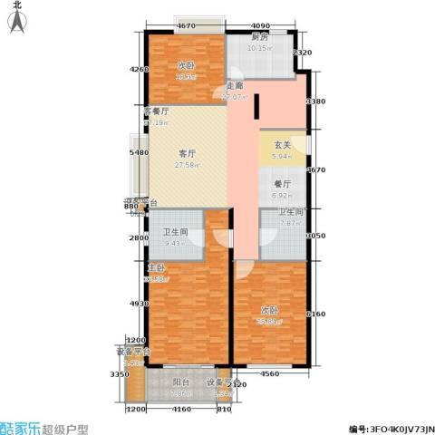 协合紫薇园3室1厅2卫1厨200.00㎡户型图