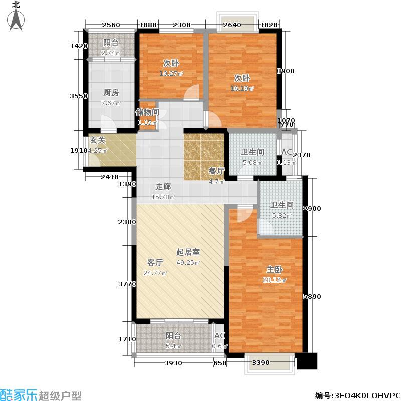 凯欣豪园146.00㎡T126-17楼层3面积14600m户型