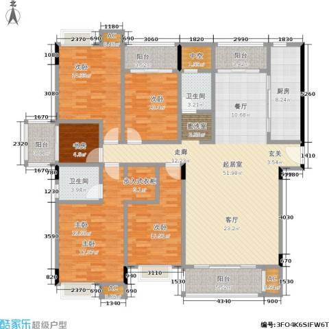 国豪水岸城5室0厅2卫1厨169.00㎡户型图