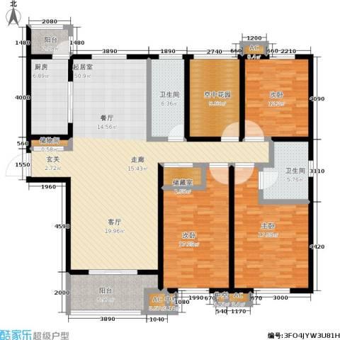 首开班芙春天3室0厅2卫1厨162.00㎡户型图