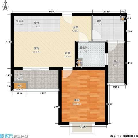 南洋博仕欣居1室0厅1卫1厨66.00㎡户型图
