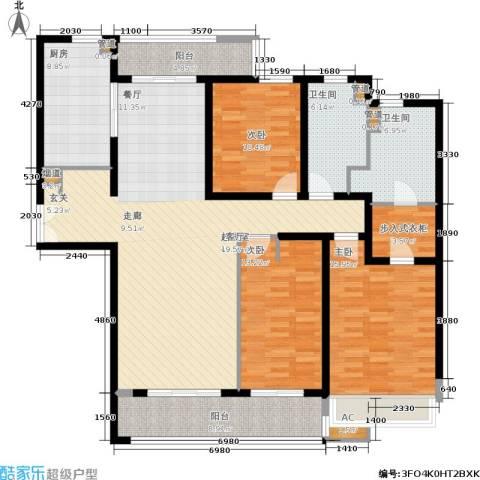 海上海新城3室0厅2卫1厨149.00㎡户型图