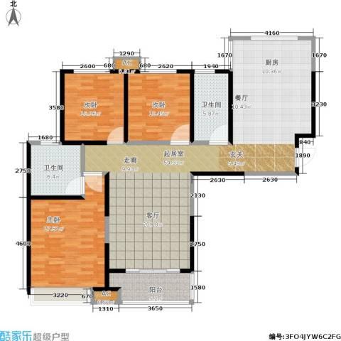 路劲主场琅悦3室0厅2卫0厨124.15㎡户型图