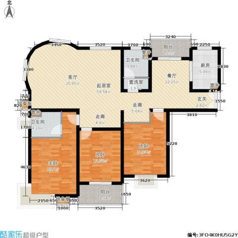 浦江茗园3室0厅2卫1厨150.00㎡户型图