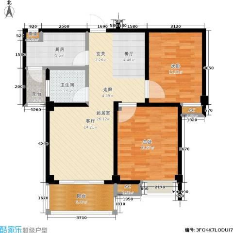 两岸一品2室0厅1卫1厨79.00㎡户型图
